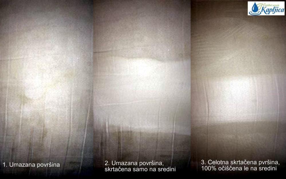 Globinsko čiščenje - postopek v sliki