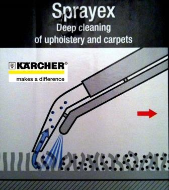 Globinsko čiscenje karcher spray-ex Ekstrakcija