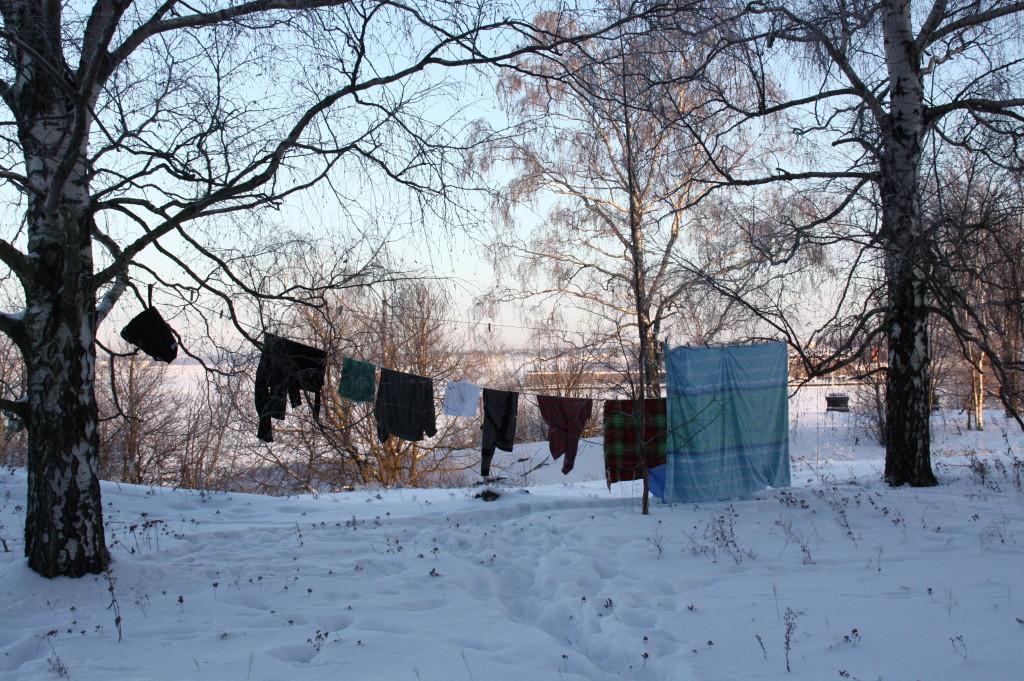 sušenje tkanin v zimskem času po globinskem čiščenju